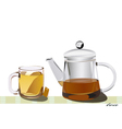 coffee and tea vector image vector image