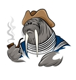 Smoking Walrus vector image