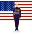 Conductor of of a military band USA-1 vector image