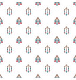 baby bed carousel pattern seamless vector image