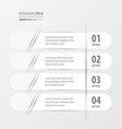 Banner Rounded design white color vector image