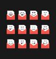 emoji set messages in red letters vector image