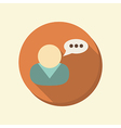 flat web icon character avatar dialogue vector image