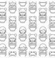 japanese girls icon vector image