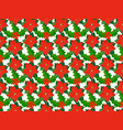 pattern with poinsettia vector image
