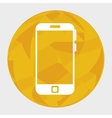 smartphone device circle icon vector image