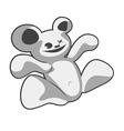 strange bear vector image