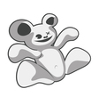 strange bear vector image vector image
