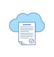 text document in the cloud storage icon cloud vector image