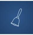 School bell line icon vector image