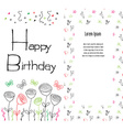 Hand drawn Birthday greeting card party background vector image