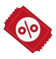 Discount ticket percenrtage icon vector image