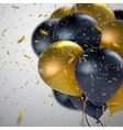 Black And Golden Balloon Bunch vector image