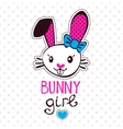 Cute bunny girl vector image