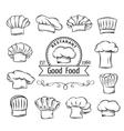 Decorative chef toques vector image
