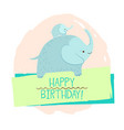 elephant element of card vector image