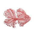 Fish painted tribal ethnic ornament vector image