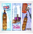 London Banner Set vector image