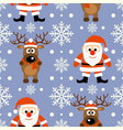 new year seamless background with funny deer and vector image