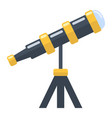 telescope flat icon astronomy and science vector image