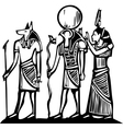 Anubis and Horus vector image vector image