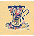 Teacup background vector image vector image