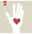 heart symbol in hand vector image