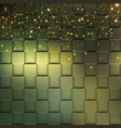 square mosaic 3d modern colorful texture composed vector image