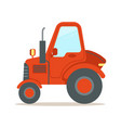 red tractor heavy agricultural machinery colorful vector image