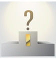Podium with question mark vector image
