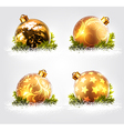 Christmas balls design vector image