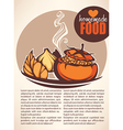 homemade food vector image vector image