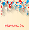 american patriotic banner for independence day vector image