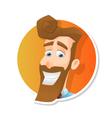 avatar jolly bearded man vector image