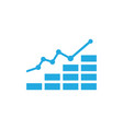 business finance chart vector image