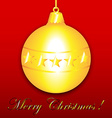 Chistmas ornament on red vector image
