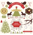 collection of christmas design elements vector image