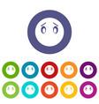 emoticon set icons vector image