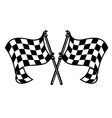 Motor sports flags curling in the breeze vector image