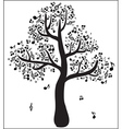 Musical tree with notes vector image