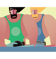 Rock band of two same men vector image