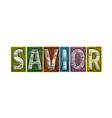 Savior Blocks of Type vector image