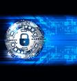 tech digital safety padlock vector image