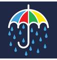 Umbrella Color Silhouette vector image