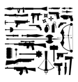 Weapons collection icons vector image