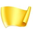 Big gold ribbon vector image vector image