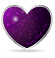 purple heart vector image vector image