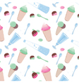 Pattern with sweets candy water and ice cream vector image