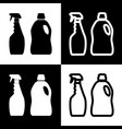 household chemical bottles sign  black and vector image