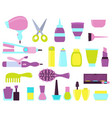 set of beauty salon icons vector image